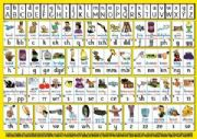 S-75 English Spelling Chart A5 (Handy two-sided deskchart for Individuals)